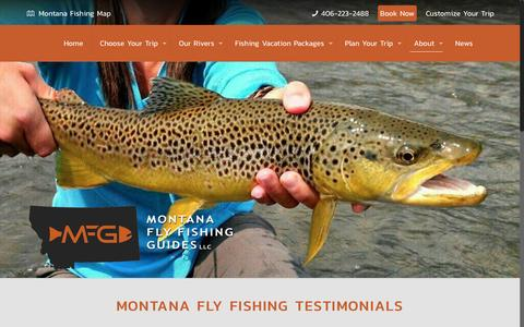 Screenshot of Testimonials Page montanaflyfishingguides.com - Reviews and Testimonials | Montana Fly Fishing Guide LLCMontana Fly Fishing Guides - captured Nov. 29, 2016