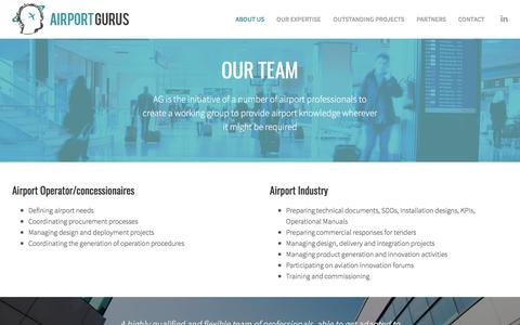 Screenshot of Team Page airportgurus.com - Our team – Airport Gurus - captured May 29, 2017