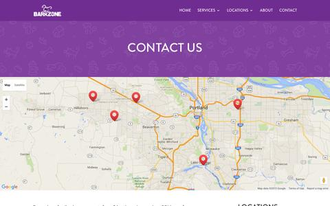 Screenshot of Contact Page barkzone.com - Contact - BarkZone - captured Dec. 30, 2015