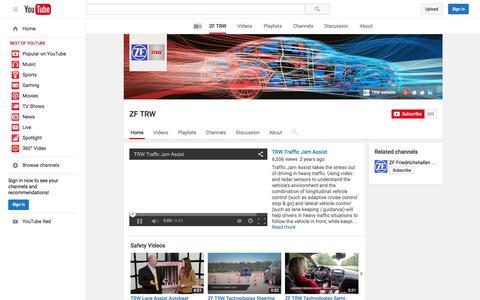 Screenshot of YouTube Page youtube.com - ZF TRW  - YouTube - captured Nov. 17, 2015
