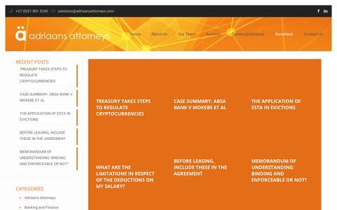 Screenshot of Blog adriaansattorneys.com - Blog – Adriaans Attorneys - captured Nov. 4, 2018