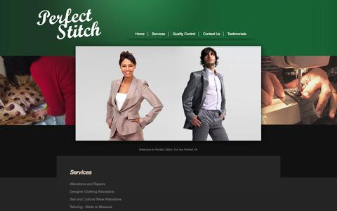 Screenshot of Services Page perfect-stitch.com - Services | Perfect Stitch | Alterations in Newcastle upon Tyne - captured Sept. 29, 2014