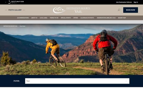 Screenshot of Press Page destinationhotels.com - Press Room - captured Oct. 12, 2017
