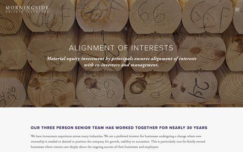 Screenshot of Team Page morningsidepi.com - TEAM — Morningside Private Investors - captured Nov. 6, 2017
