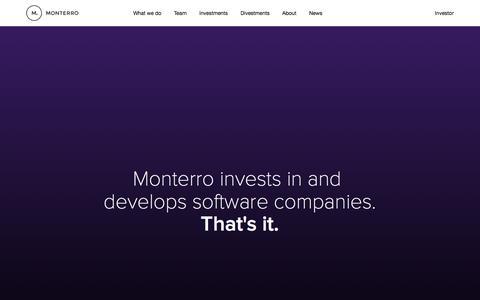 Screenshot of Home Page monterro.se - Monterro - Start page - captured Feb. 17, 2016