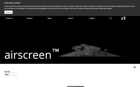 Screenshot of Products Page inverto.tv - airscreen™ - Inverto.tv - captured Oct. 12, 2018