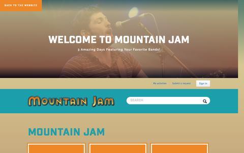 Screenshot of FAQ Page zendesk.com - Mountain Jam - captured Feb. 9, 2017
