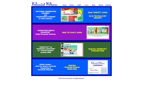 Screenshot of Press Page perennialpictures.com captured Oct. 2, 2014