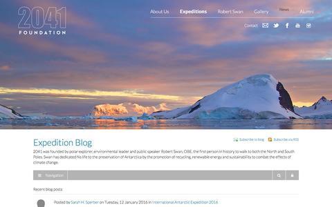 Screenshot of Blog 2041.com - 2041 - Recent blog posts - Expedition Blog - captured Jan. 19, 2016