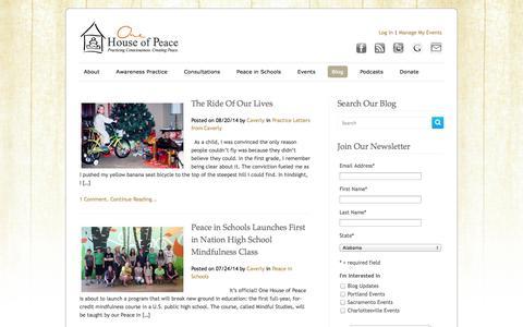 Screenshot of Blog onehouseofpeace.org - Blog | One House of Peace - captured Sept. 30, 2014