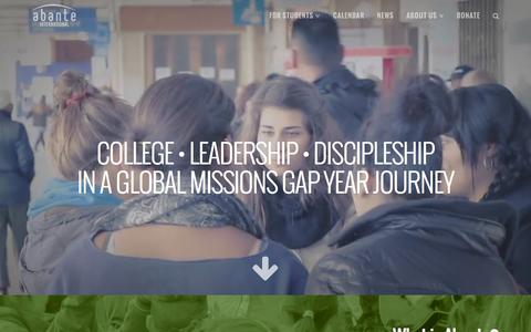 Missions Gap Year with Abante International