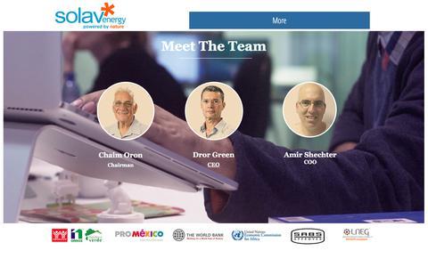 Screenshot of Team Page solavenergy.com - Solav Energy | Management - captured Nov. 5, 2017
