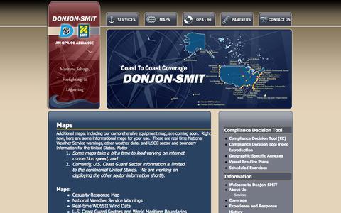 Screenshot of Maps & Directions Page donjon-smit.com - Maps | DONJON-SMIT - captured Oct. 6, 2014