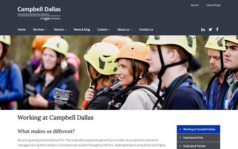 Screenshot of Jobs Page campbelldallas.co.uk - Working at Campbell Dallas - Campbell Dallas - captured Sept. 26, 2018
