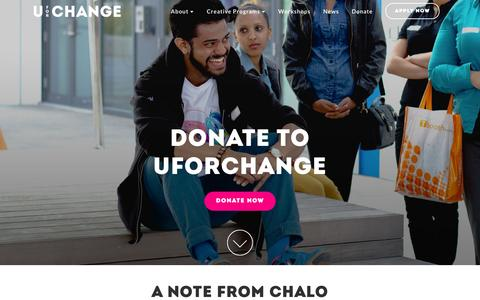 Screenshot of Support Page uforchange.org - U For Change |   Donate - captured Feb. 22, 2016