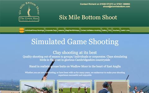 Screenshot of Home Page sixmilebottomshoot.co.uk - Six Mile Bottom Shoot - captured Oct. 7, 2014
