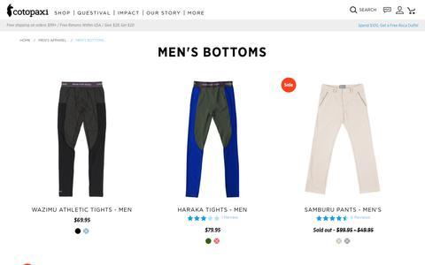 Men's Bottoms                      – Cotopaxi