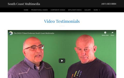 Screenshot of Testimonials Page southcoastmultimedia.com - Testimonials  | South Coast Multimedia - captured Oct. 20, 2018