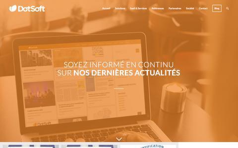Screenshot of Blog dotsoft.fr - Dotsoft Blog| Dotsoft - Smart Commerce for Retail - captured Aug. 5, 2018