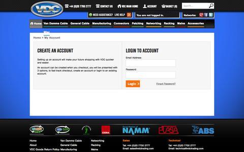 Screenshot of Login Page vdctrading.com captured Sept. 19, 2014