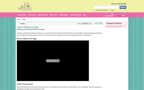 Screenshot of Blog russwholesaleflowers.com - Blog - captured Nov. 5, 2014