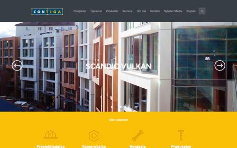 Screenshot of Home Page contiga.no - Contiga - captured Oct. 2, 2014