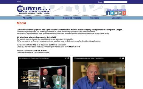 Screenshot of Press Page curtisresteq.com - Curtis Restaurant Equipment - captured Oct. 3, 2014