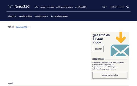 Workforce Articles | Randstad USA