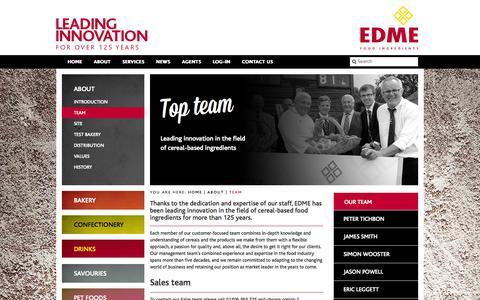 Screenshot of Team Page edme.com - Team - EDME - captured Oct. 1, 2014