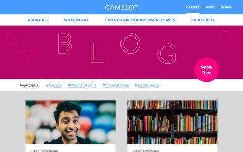 Screenshot of Blog camelotgroup.co.uk - Camelot Blog - Camelot Group - captured Sept. 22, 2018