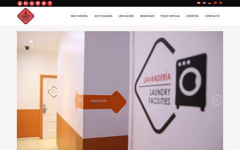 Screenshot of Home Page wayhostel.com - Hostal barato en Tirso de Molina, Madrid | Way Hostel - captured Dec. 3, 2016