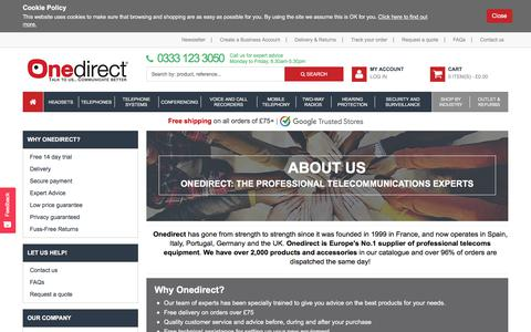 Screenshot of About Page onedirect.co.uk - About us - captured Oct. 8, 2017