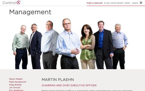 Screenshot of Team Page control4.com - Management | Control4 - captured Oct. 21, 2015