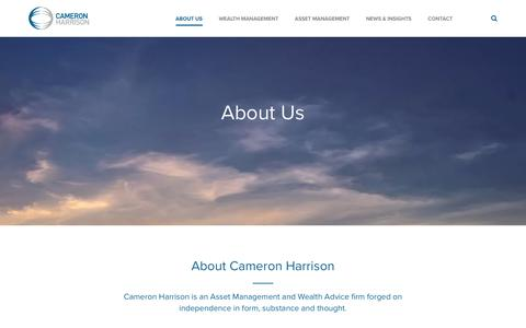 Screenshot of About Page cameronharrison.com.au - Asset & Wealth Management | Cameron Harrison - captured July 11, 2016