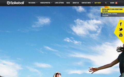 Screenshot of Home Page spikeball.com - Spikeball Store | Backyard Game, Beach game, Competitive. - captured Sept. 19, 2014