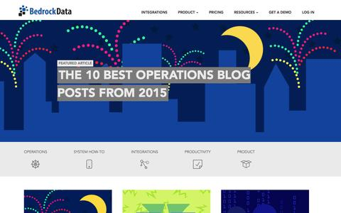 Screenshot of Blog bedrockdata.com - Integrations and Data Management Blog | Bedrock Data - captured Dec. 31, 2015