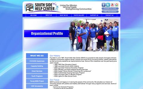 Screenshot of About Page southsidehelp.org - South Side Help Center - captured Oct. 6, 2014