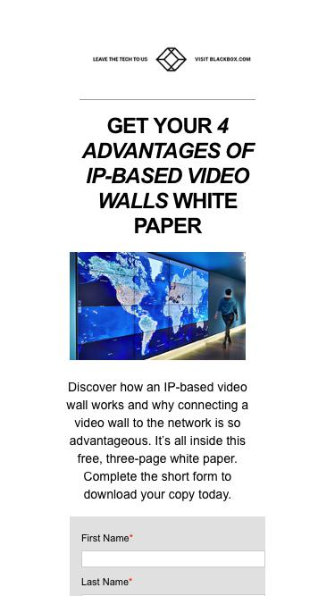 White Paper: 4 Advantages of IP-Based Video Walls | Black Box