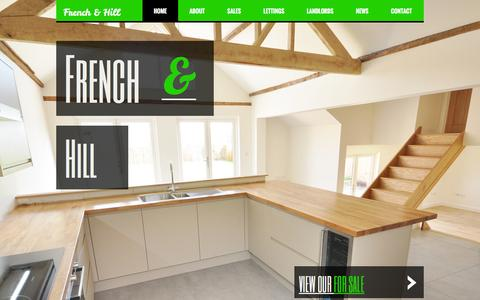 Screenshot of Home Page frenchandhill.co.uk - HOME - frenchhill - captured Feb. 10, 2016