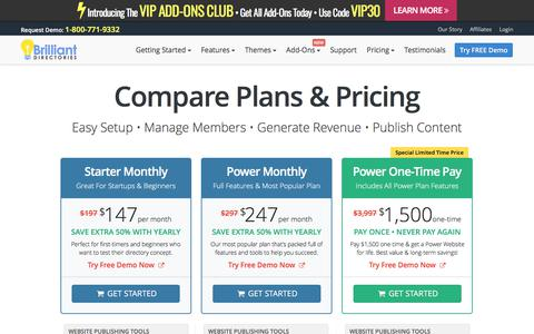 Screenshot of Pricing Page brilliantdirectories.com - Website Directory Software Pricing - Website Directory Script - Directory Software - Directory Script - Directory Template - captured June 3, 2017