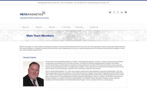 Screenshot of Team Page mtmgx.com - Main Team Members | MetamagneticsMetamagnetics - captured Oct. 27, 2014
