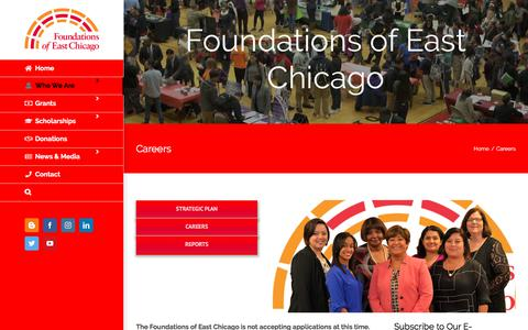 Screenshot of Jobs Page foundationsec.org - Careers - Foundations of East Chicago - captured July 3, 2018