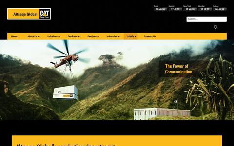 Screenshot of Press Page altaaqaglobal.com - Altaaqa Global - Media - captured Oct. 4, 2014