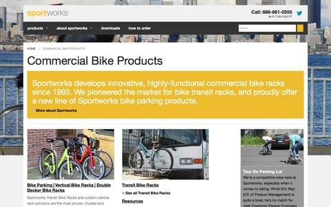 Screenshot of Products Page sportworks.com - Commercial Bike Products Đ Sportworks - captured Jan. 11, 2016
