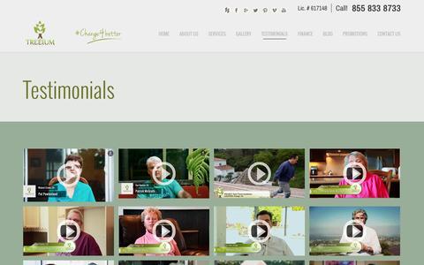 Screenshot of Testimonials Page treeium.com - Testimonials   Treeium - captured Oct. 7, 2014