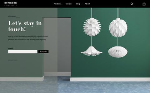 Screenshot of Signup Page normann-copenhagen.com - Signup for Newsletter - Normann Copenhagen - captured Dec. 4, 2016