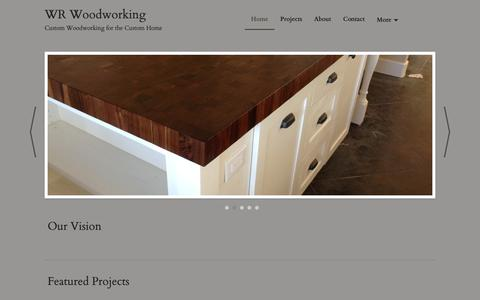 Screenshot of Home Page wrwoodworking.com - WR Woodworking - Leander, TX - Home - captured March 18, 2019