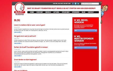 Screenshot of Blog bartfoundation.nl - Blogs Archief - Bart de Graaff Foundation Bart de Graaff Foundation - captured Feb. 7, 2016