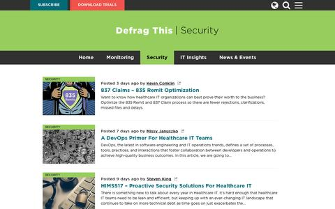 Screenshot of Blog ipswitch.com - Defrag This – Security and Network Monitoring Blog And Podcast | security - captured Feb. 24, 2017