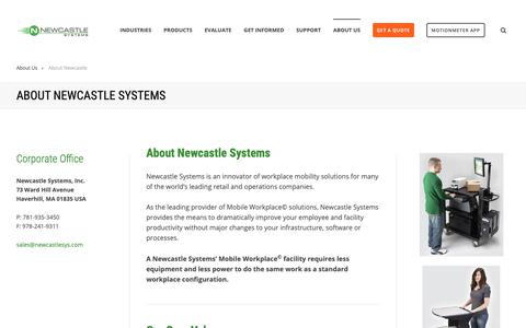 Screenshot of About Page newcastlesys.com - About Newcastle Systems - captured Oct. 18, 2018